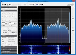 Spectrum of IF output from IC-7610 USB socket